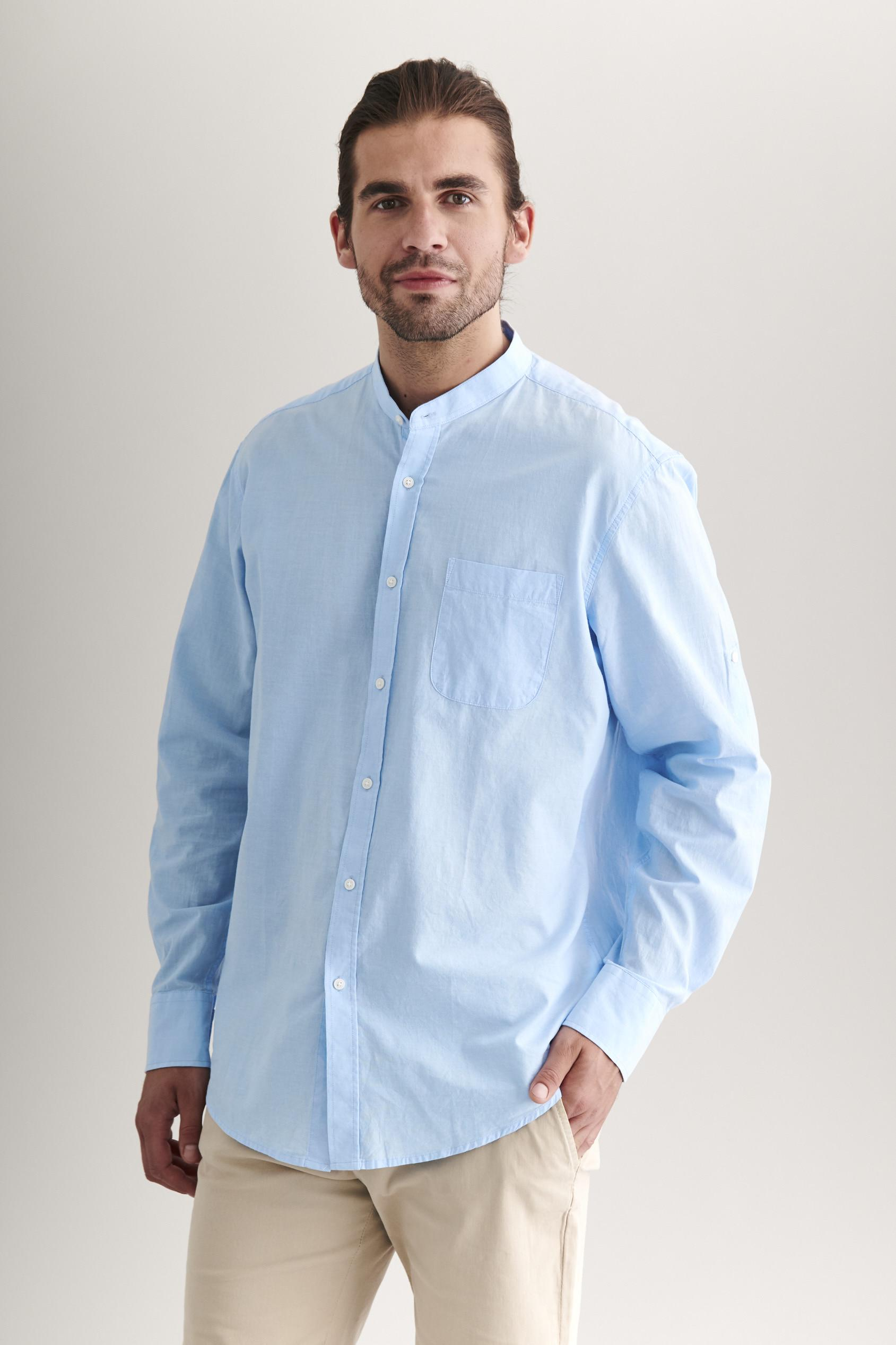 MEN'S SHIRT WITH A STAND-UP COLLAR ADAM 2 CLASSIC