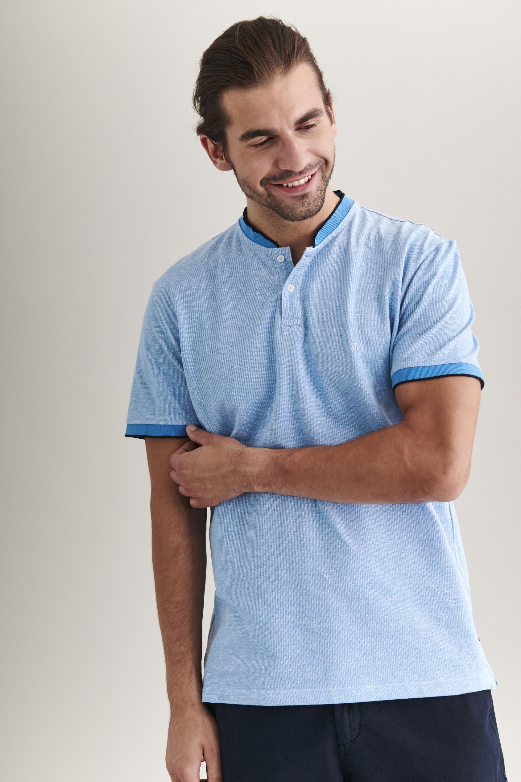 MEN'S STAND-UP COLLAR POLO SHIRT CUBA 2