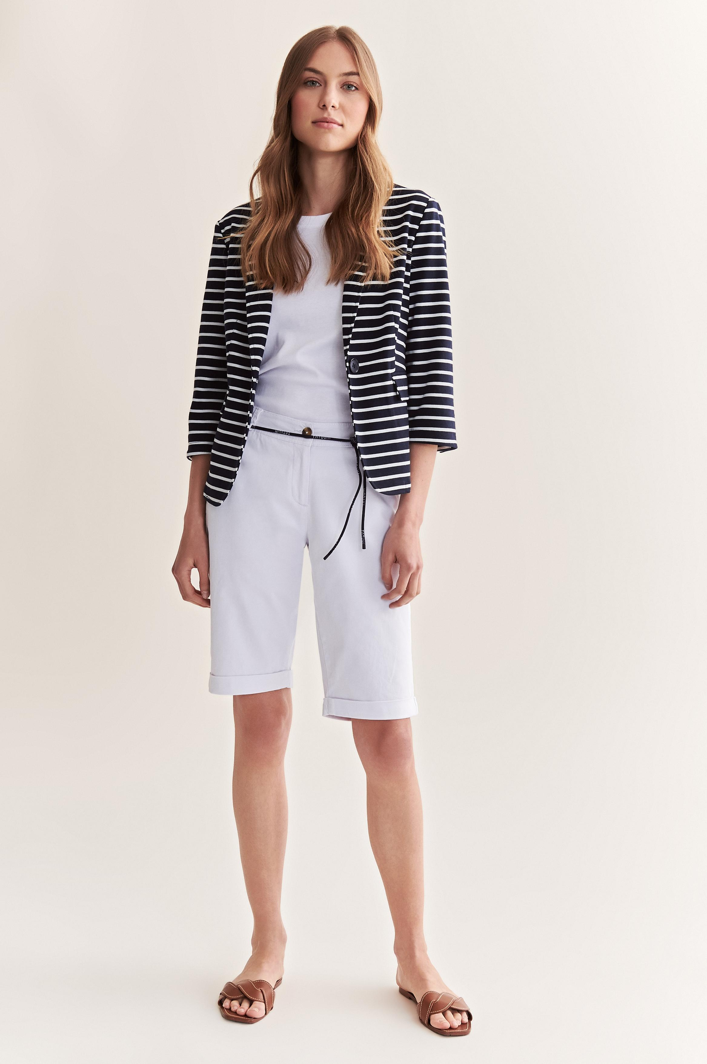 LADIES' JACKET WITH NAVY STRIPES BERTI