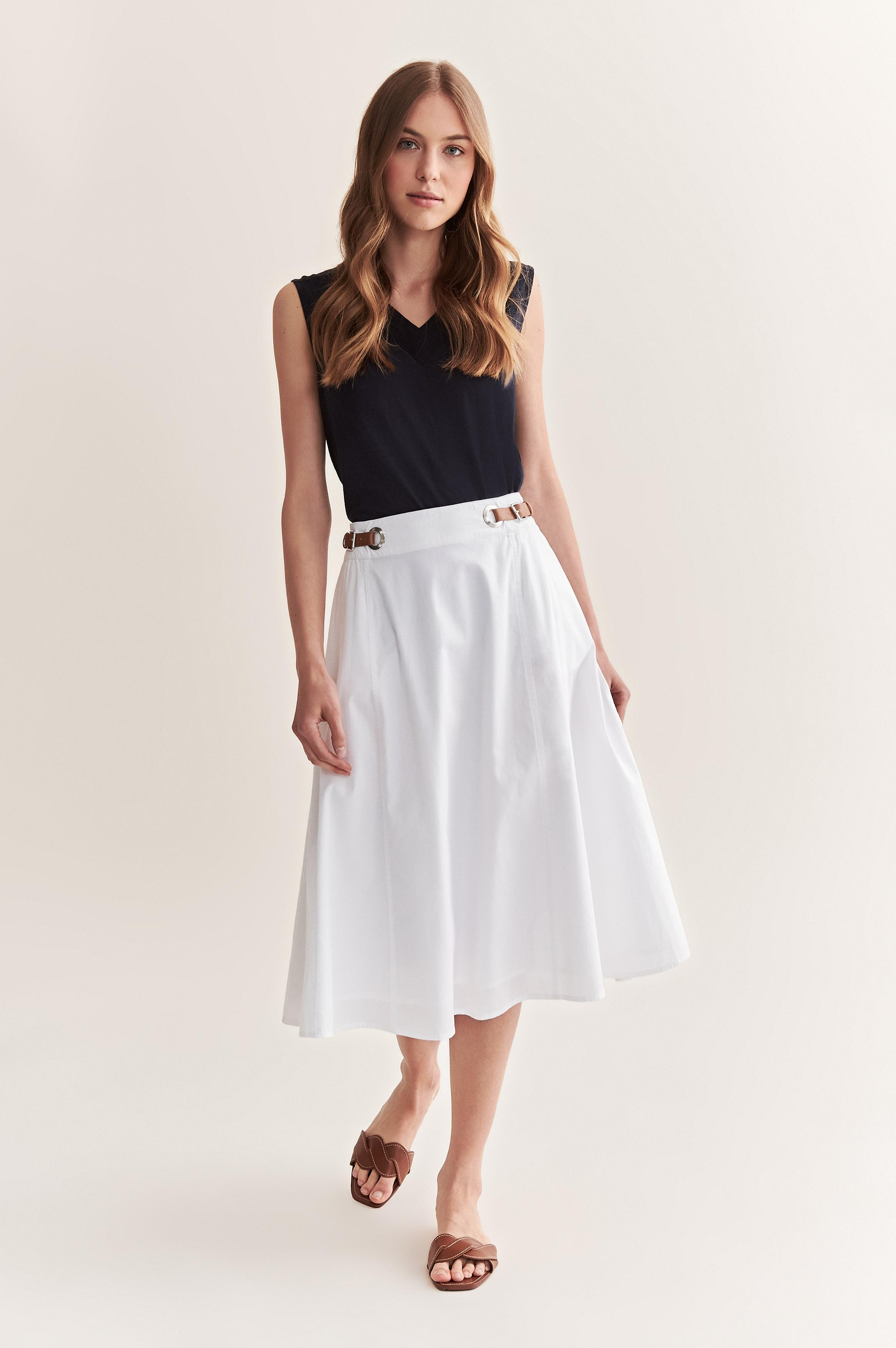 EXPANDED SKIRT WITH BUCKLES FABIANA 2