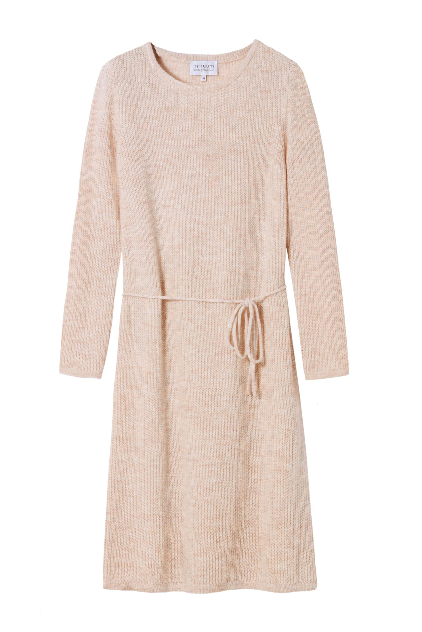 WOOL DRESS WITH A PEARL WEAVE - SELECTED TETIO