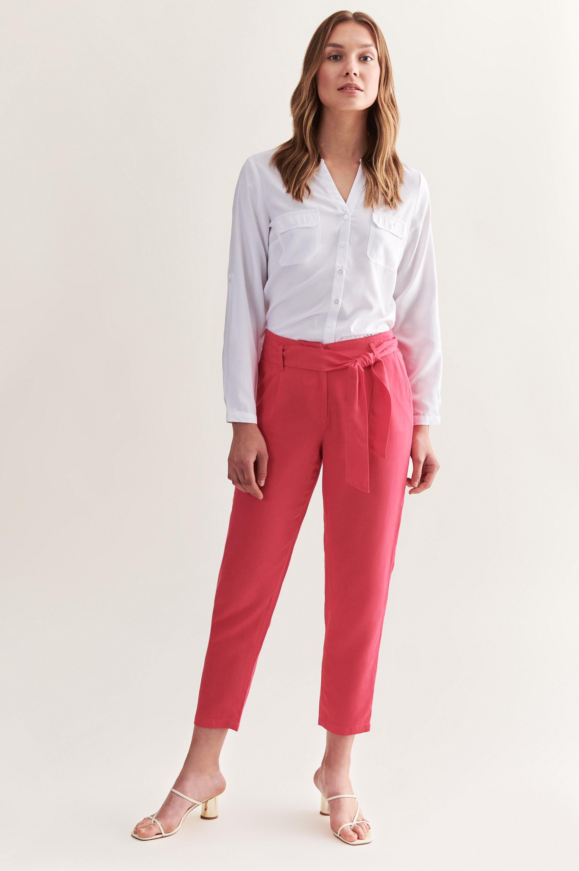 LADIES' NATURAL FABRIC PANTS LUCIA