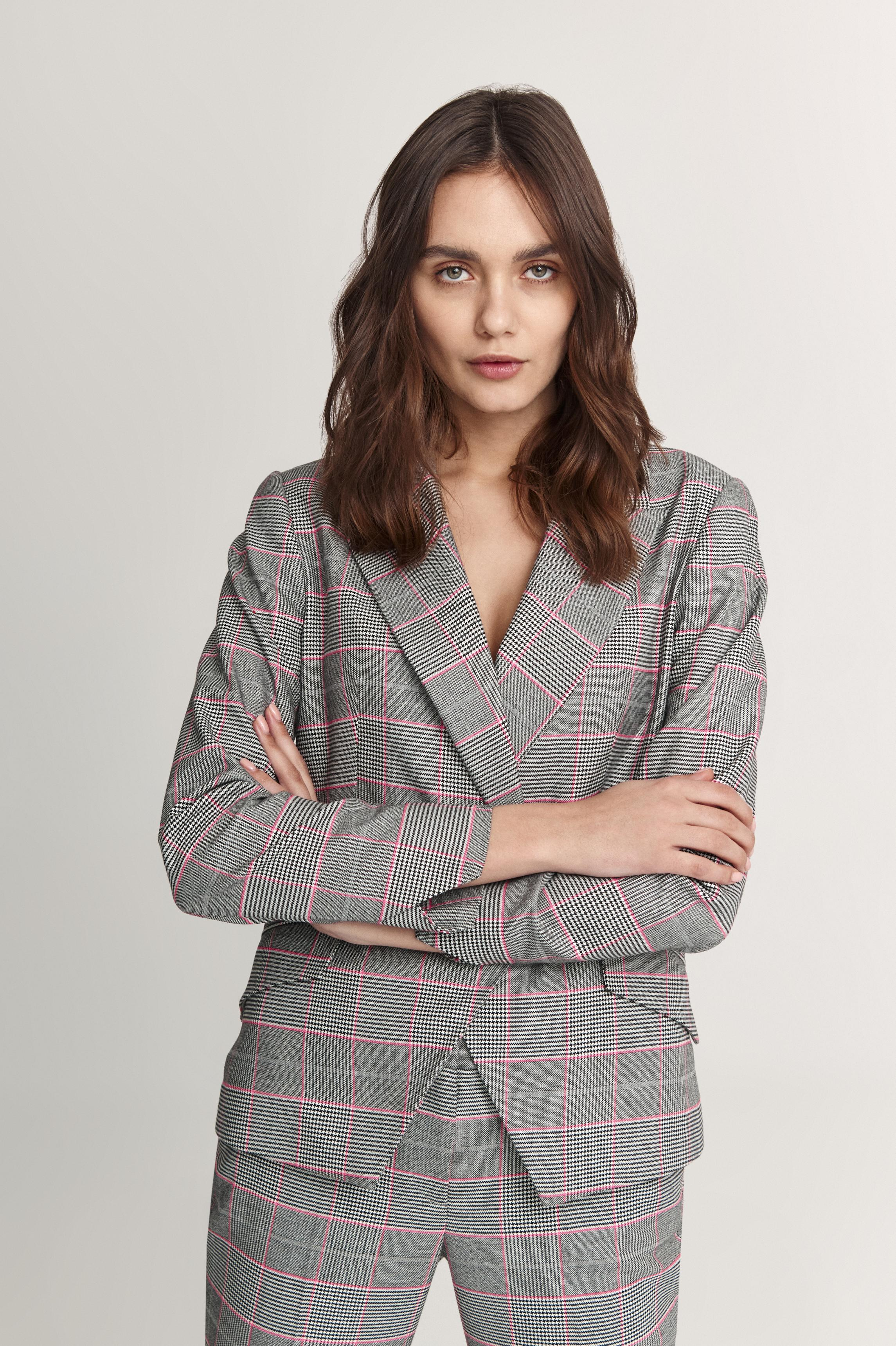 LADIES' CHECKERED JACKET KOJOTI