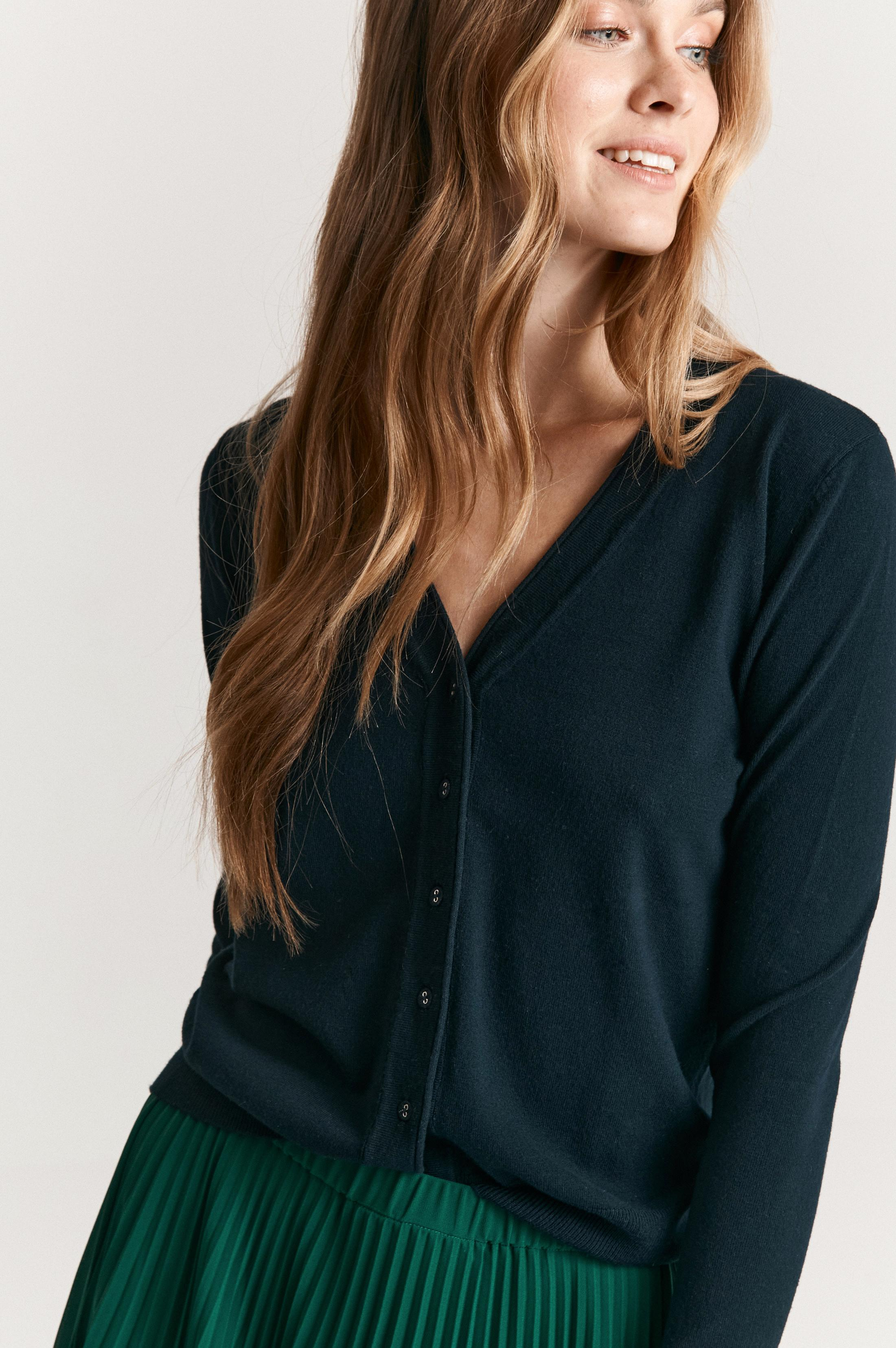LADIES' BUTTONED-UP SWEATER SELMA