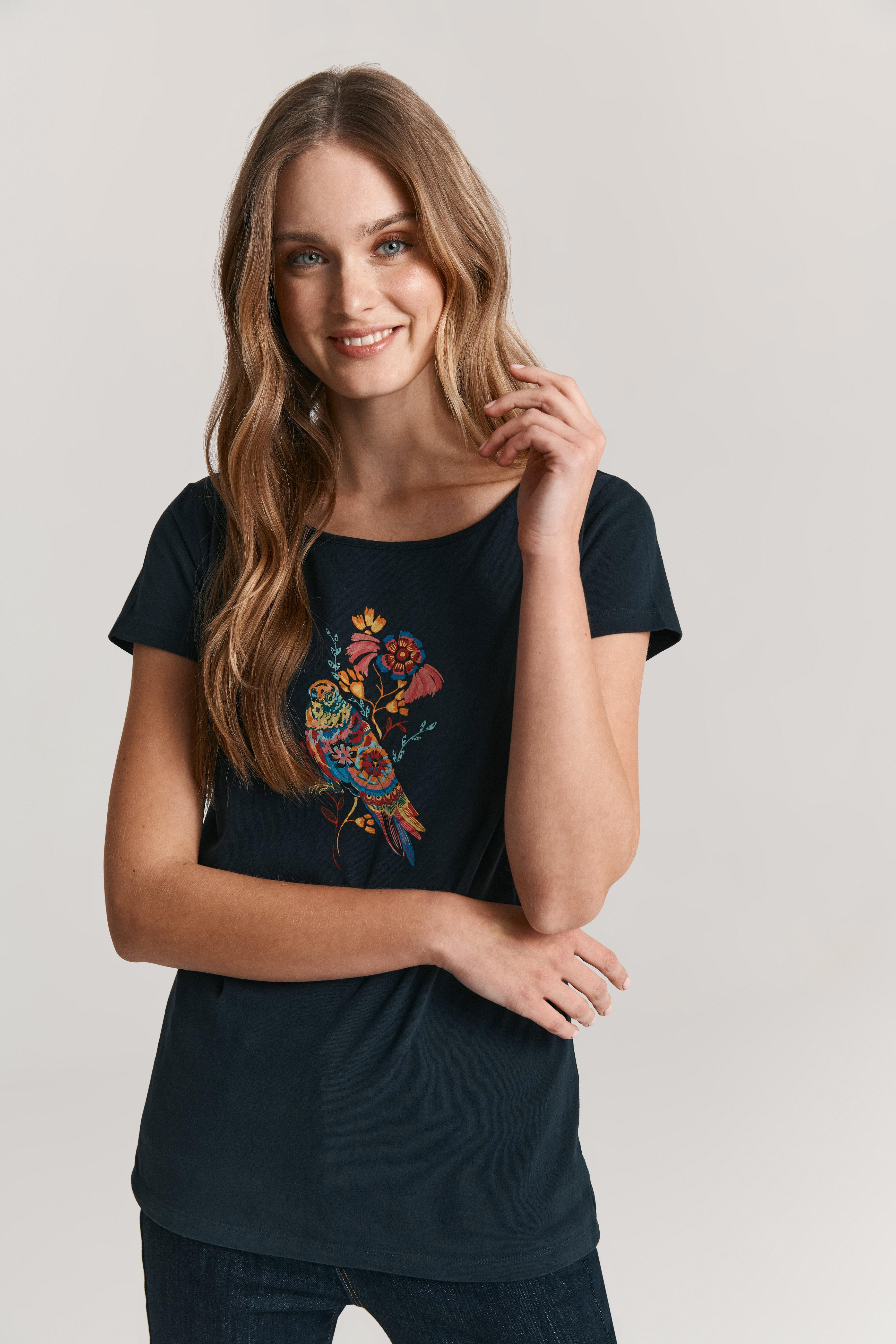 LADIES' ORGANIC COTTON T-SHIRT WITH A PRINT ALBINA 6