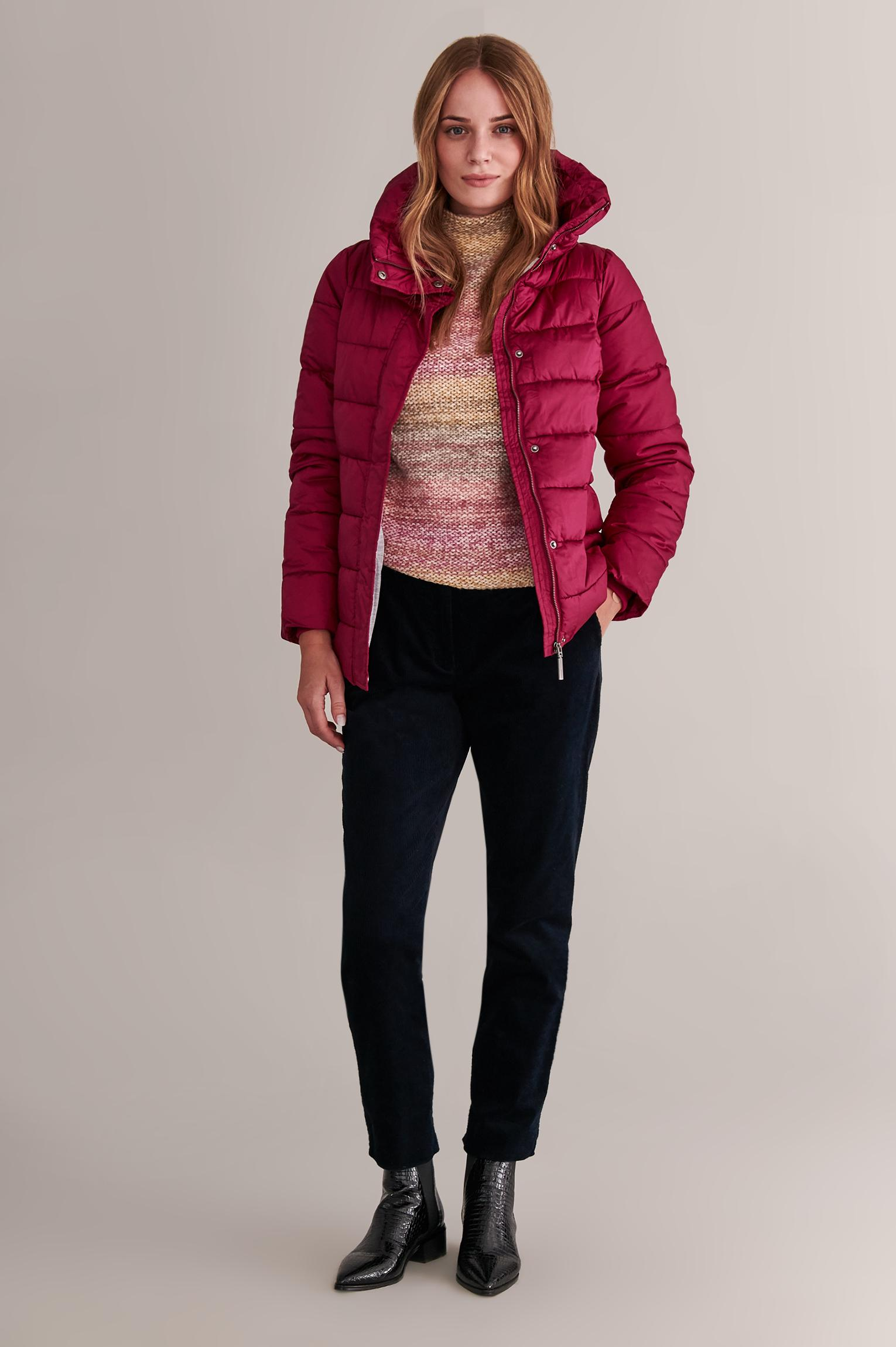 WARM OUTERWEAR JACKET WITH HIGH STAND-UP COLLAR MARTYNA