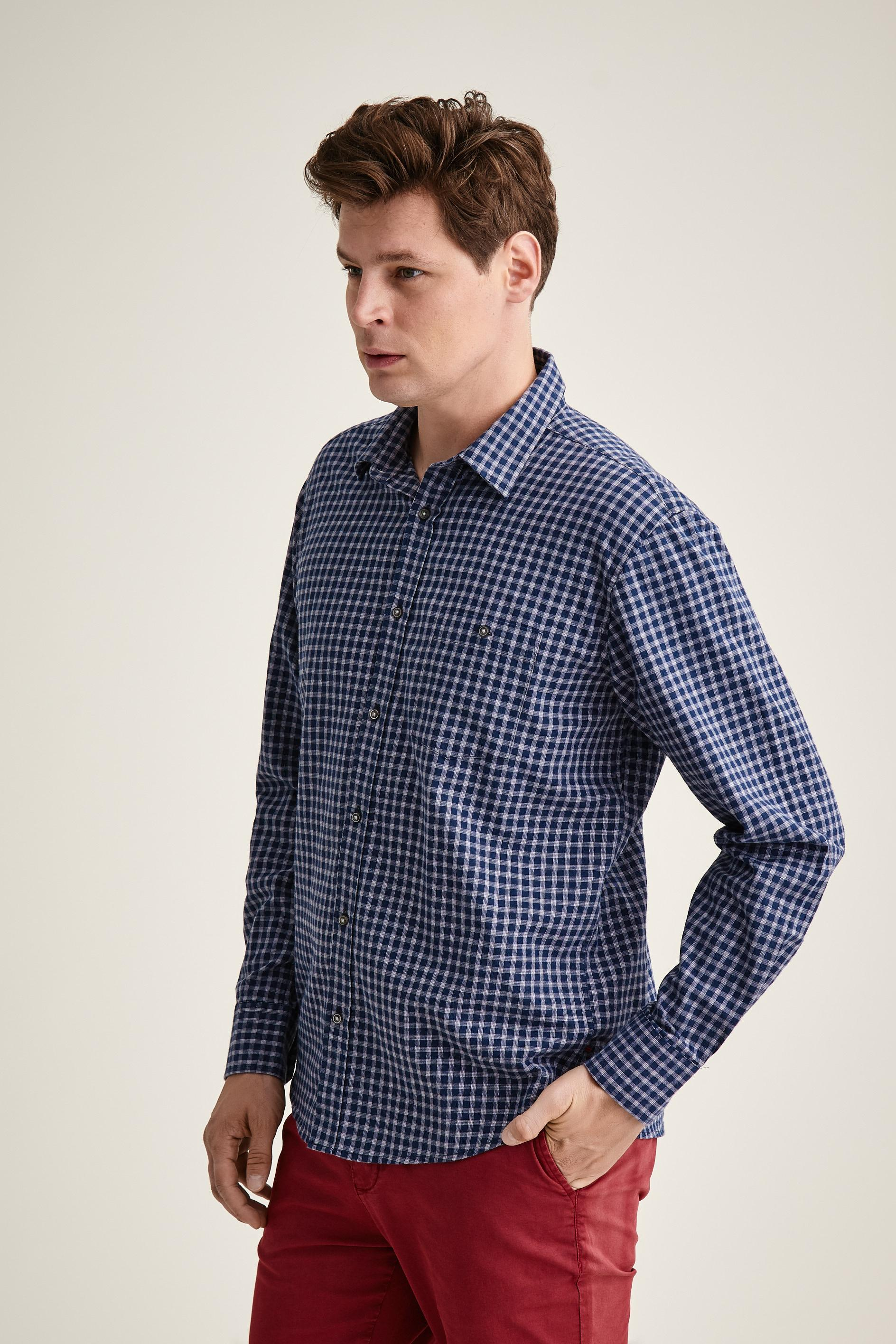CHECKERED SHIRT WITH LONG SLEEVE CHARLES 6 CLASSIC