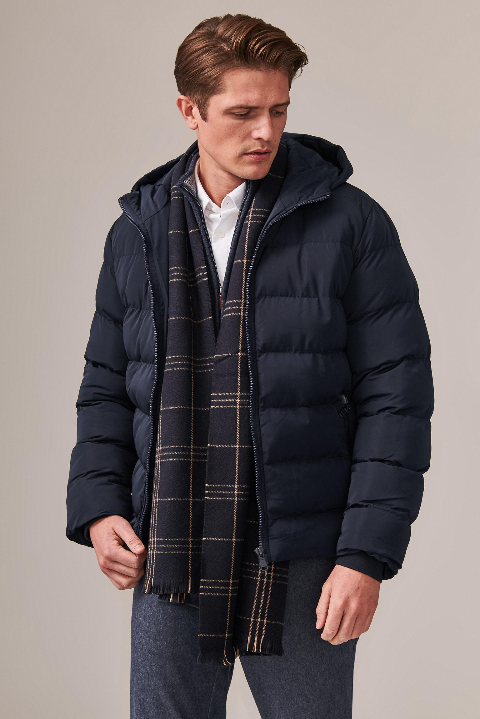 MEN'S QUILTED HOODED OUTERWEAR JACKET REMI