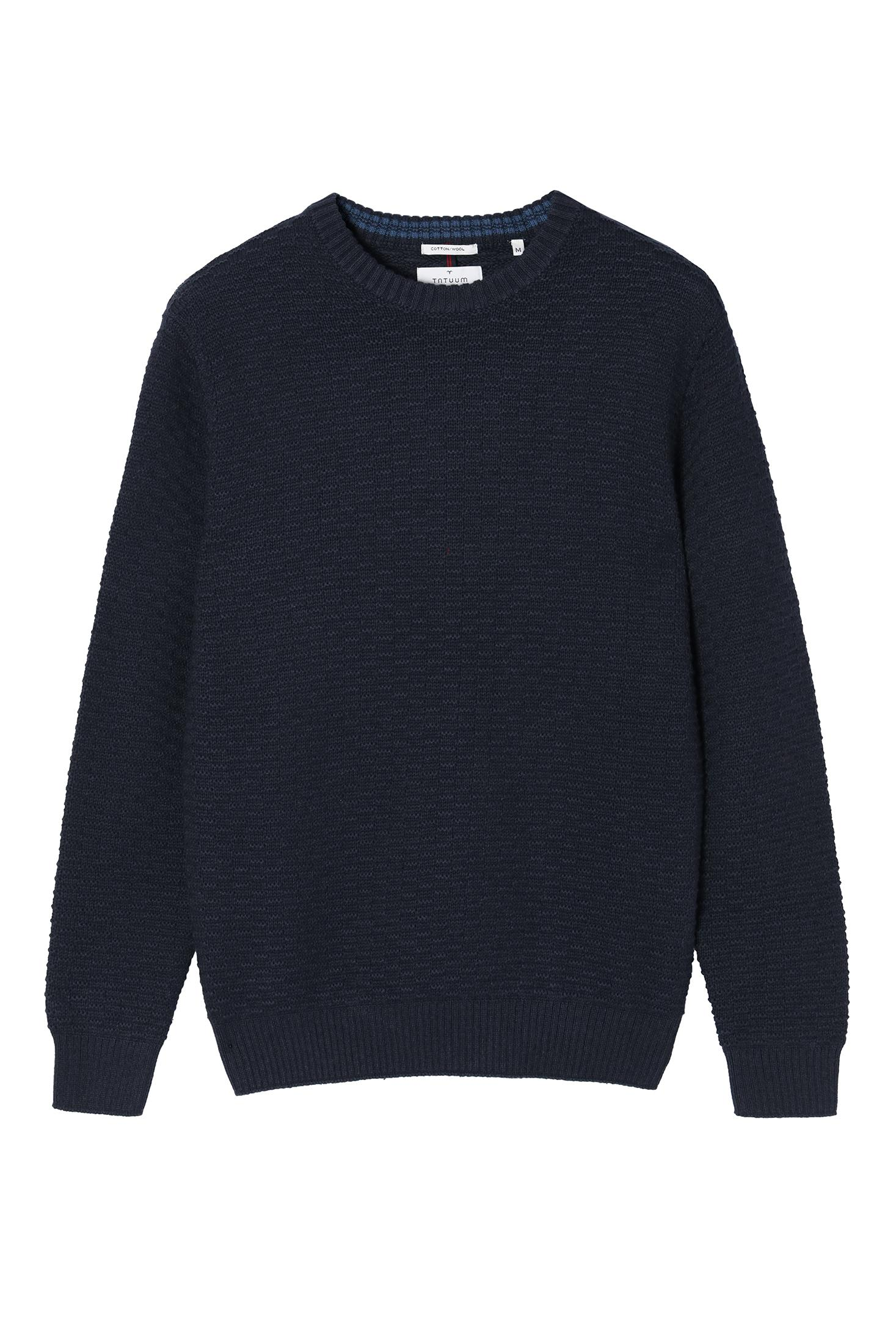 MEN'S SWEATER WITH WOOL TRICK 4A