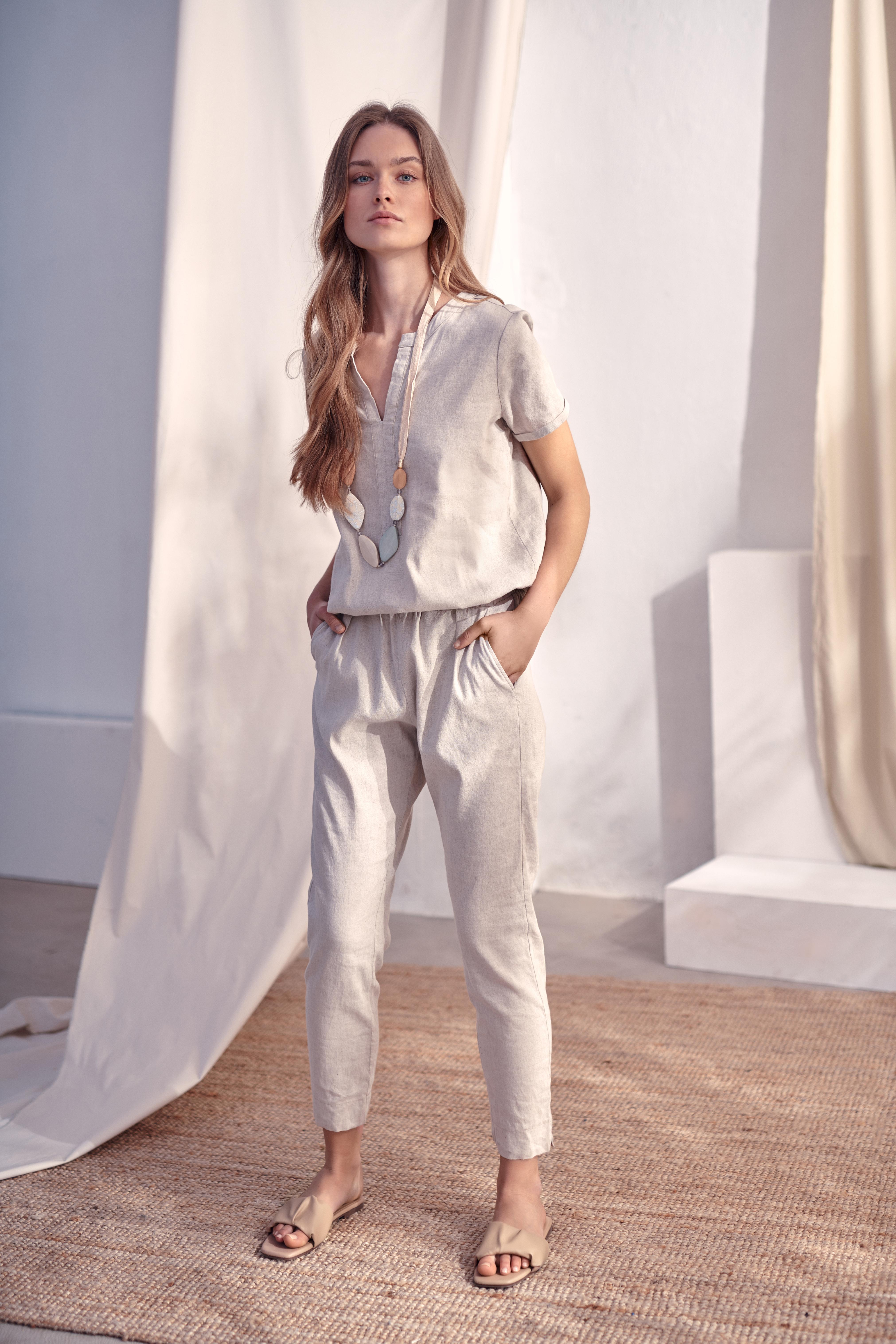 LADIES' OVERALLS WITH LINEN KANDI 1
