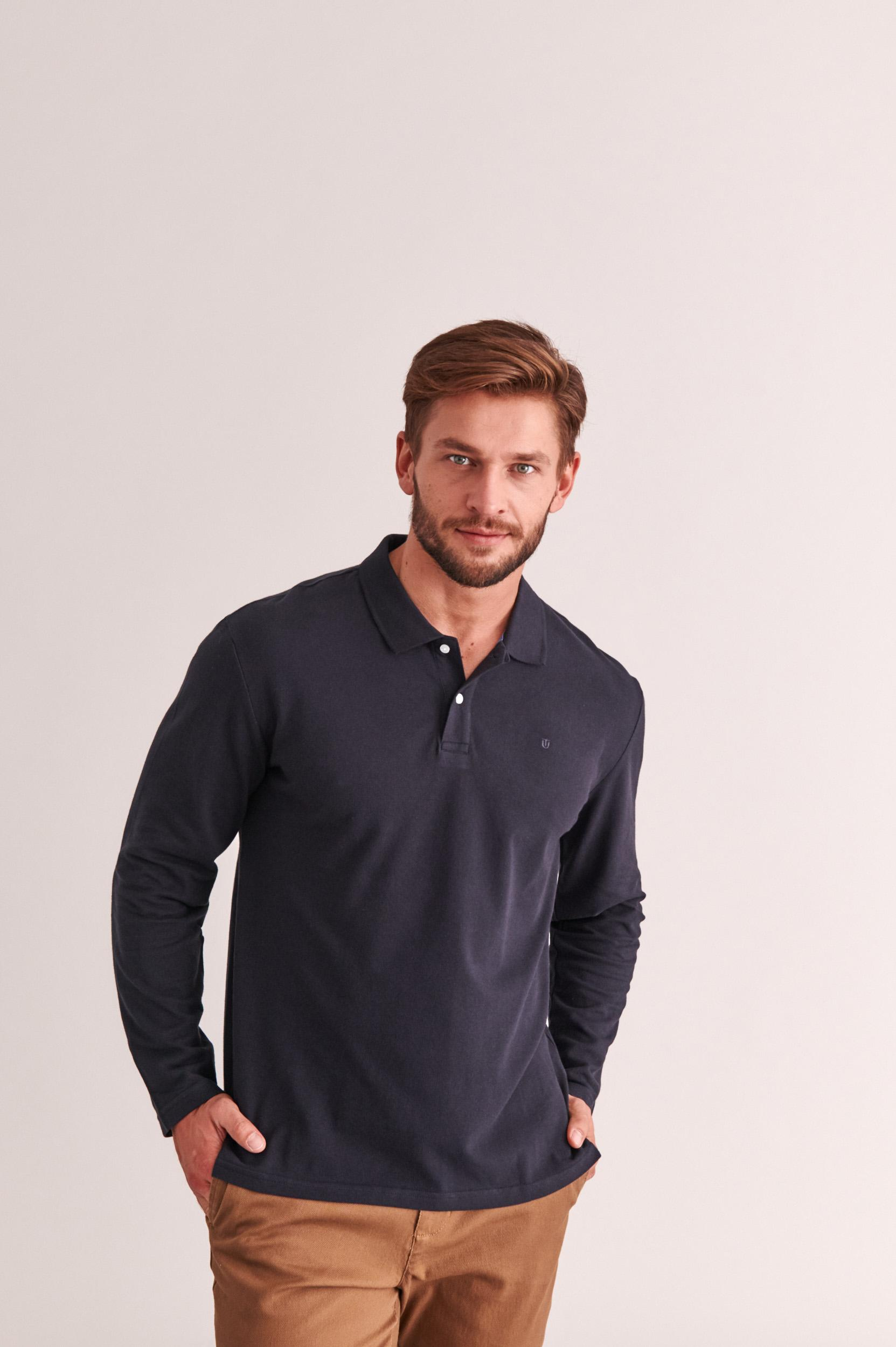 MEN'S POLO SHIRT WITH LONG SLEEVES BERN