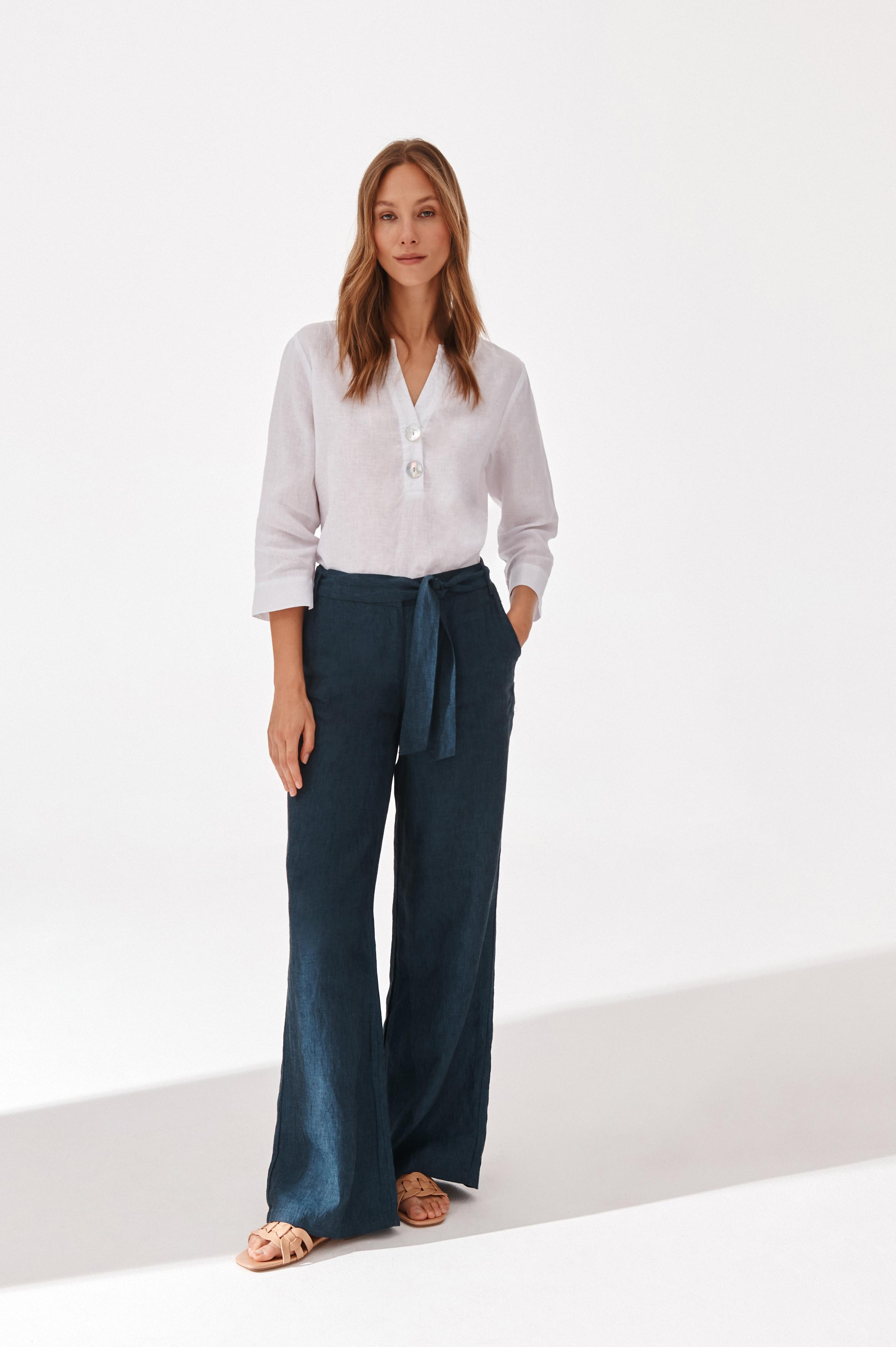 LINEN LADIES' PANTS OLENA 1