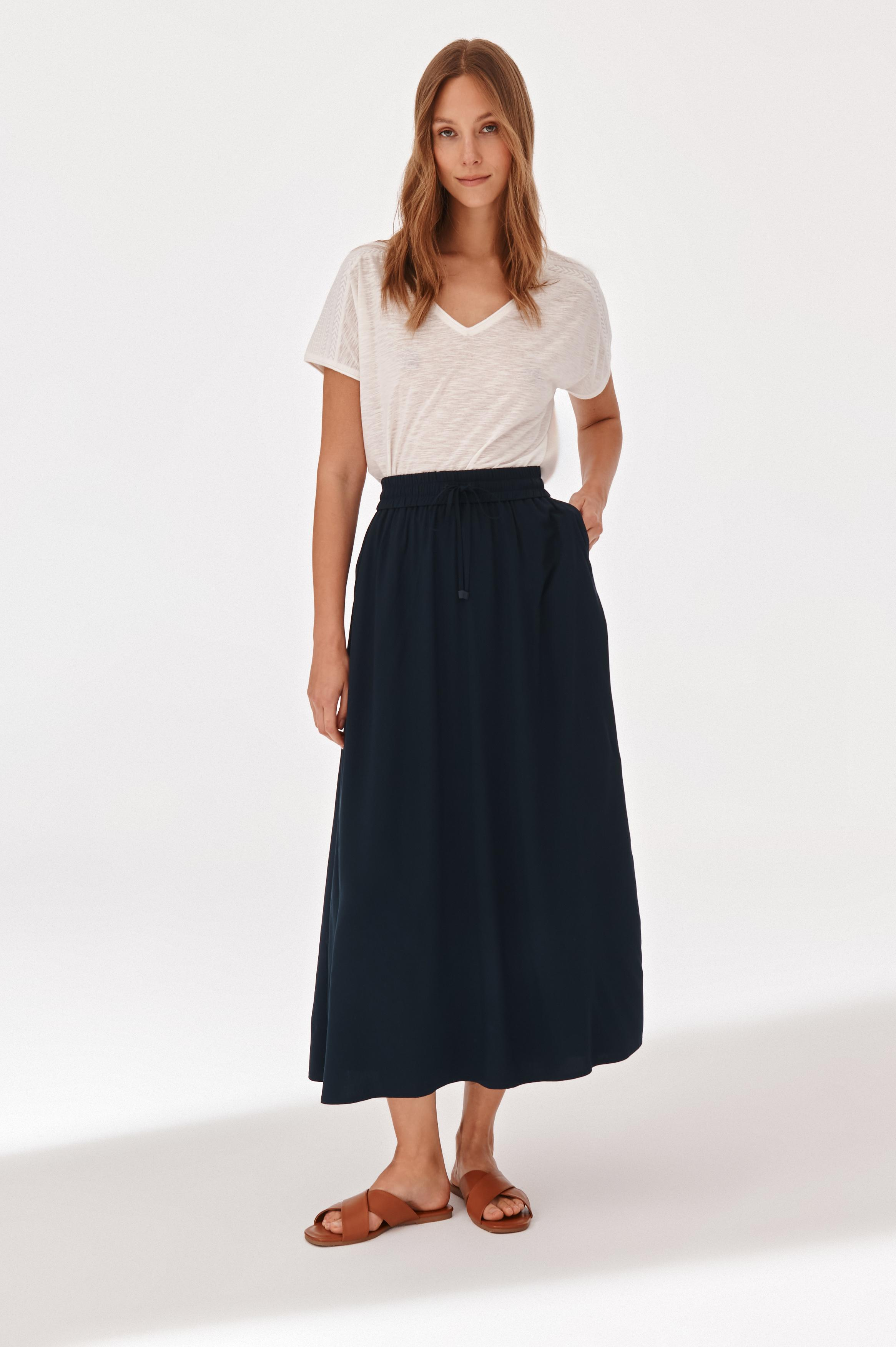 LADIES' MIDI SKIRT SAND