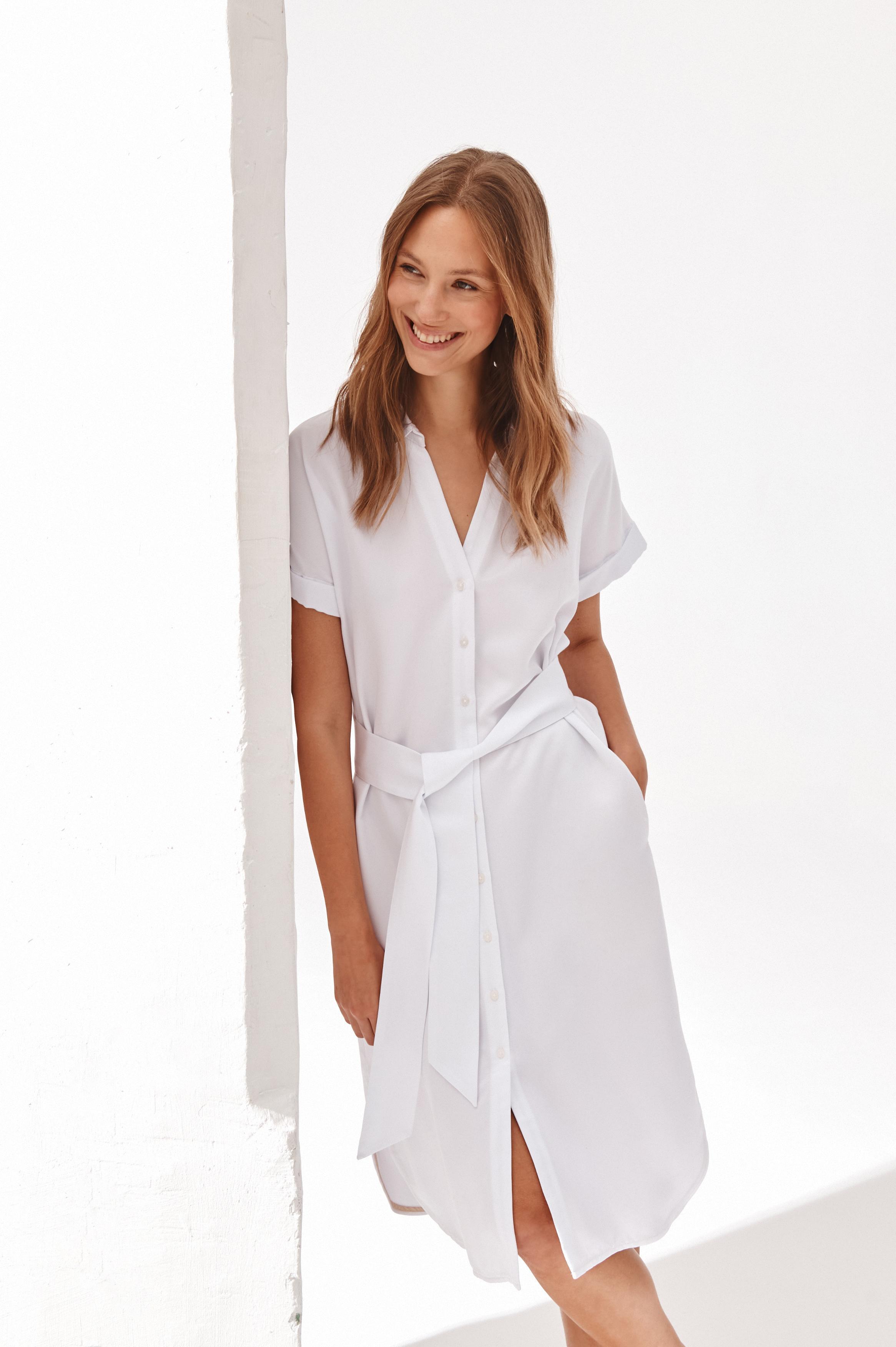 TENCEL SHIRT-LIKE DRESS WENOIKA