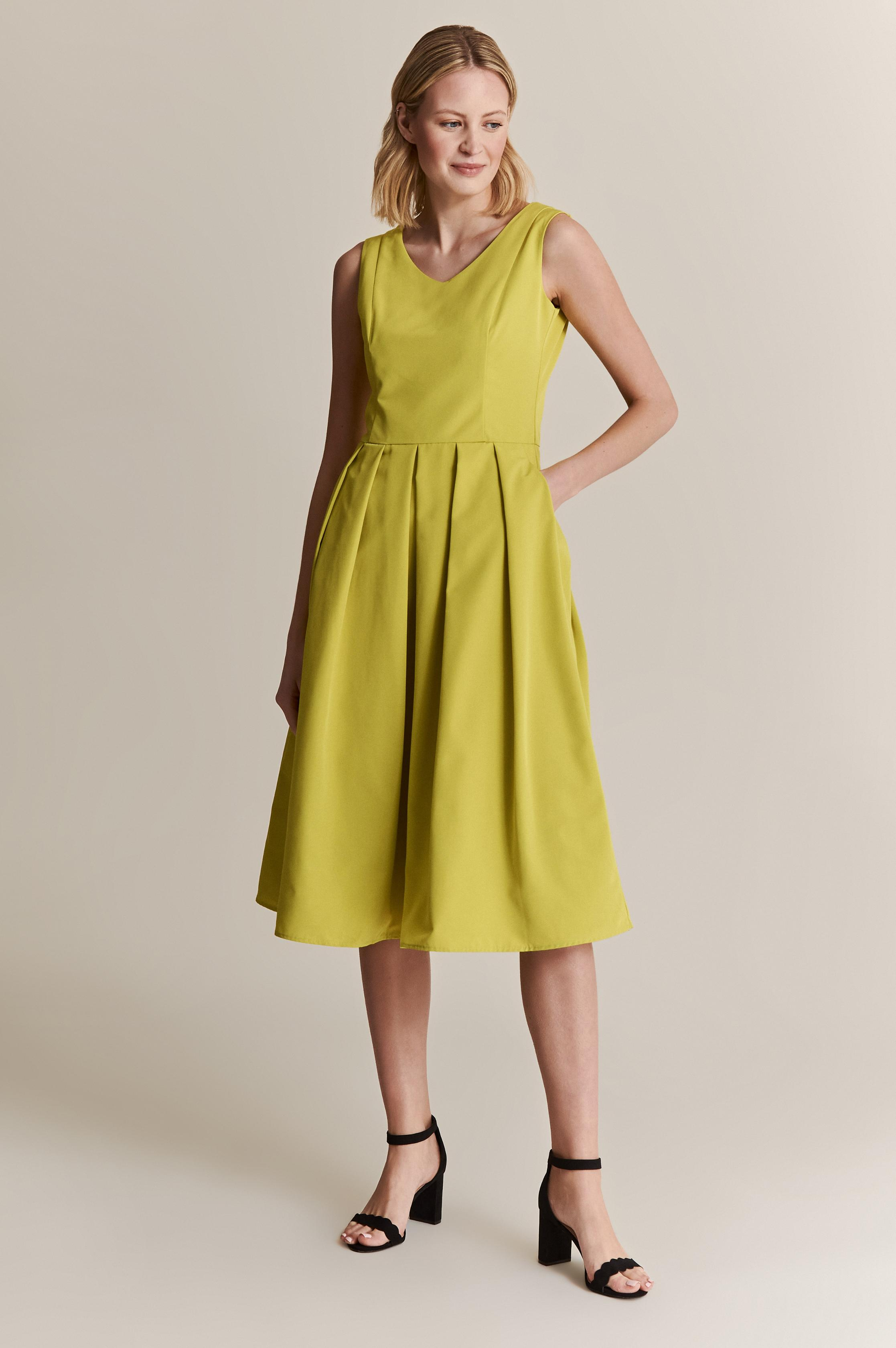 LIME PRINCESSE DRESS WITH EXPANDED DOWN PENTIANA