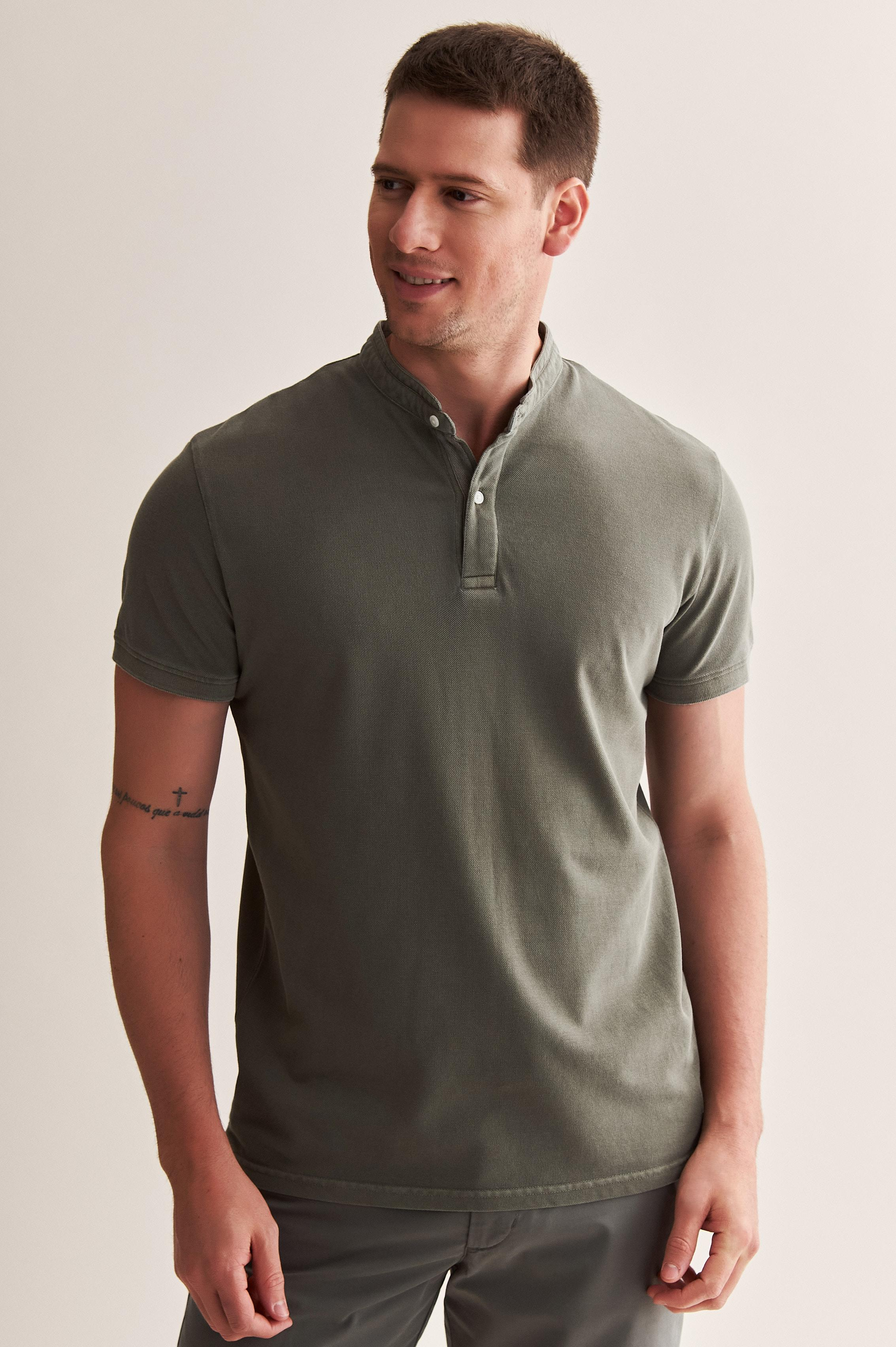 MEN'S KNITTED POLO SHIRT MAX