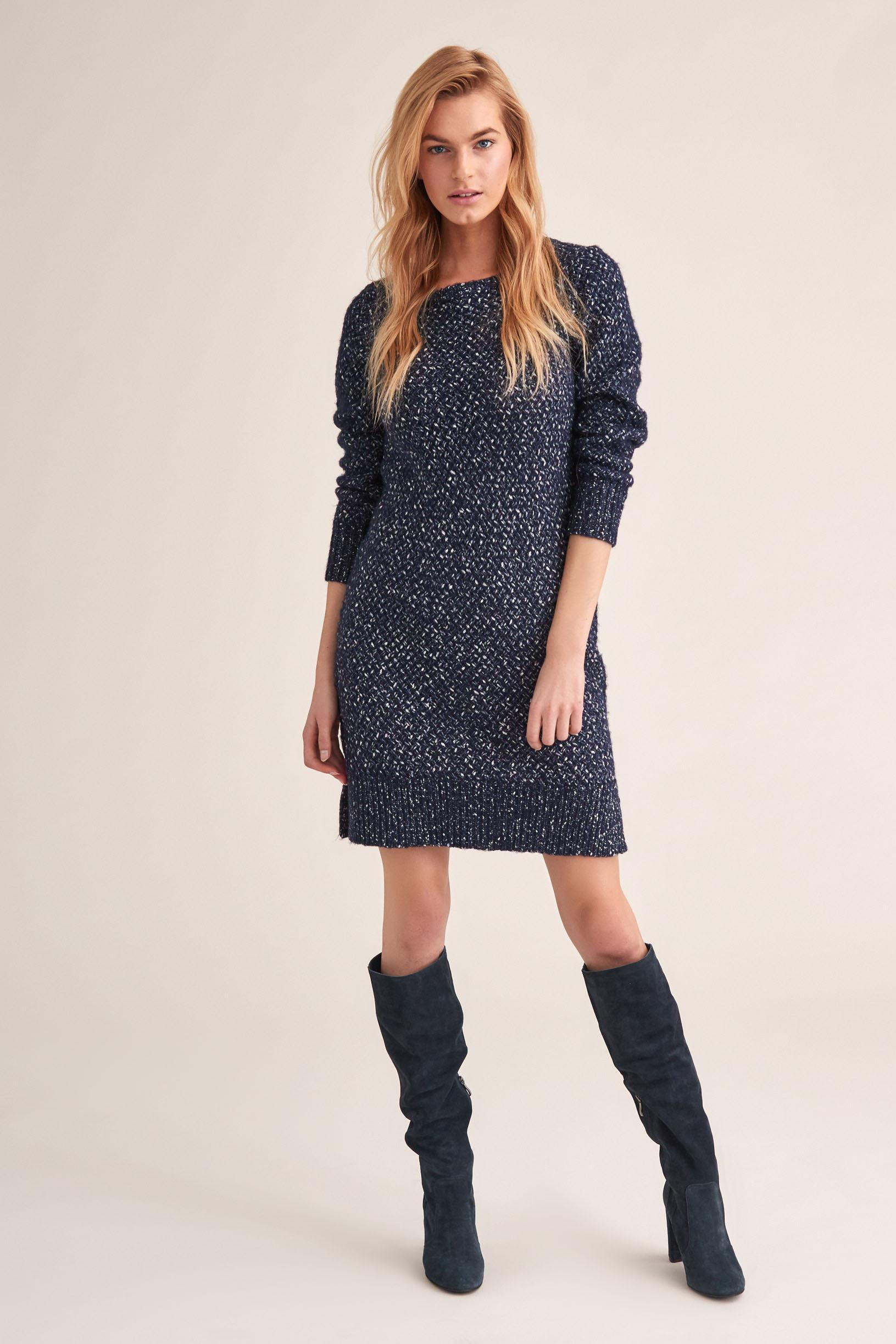 THICK KNIT WEAVE DRESS ANITA
