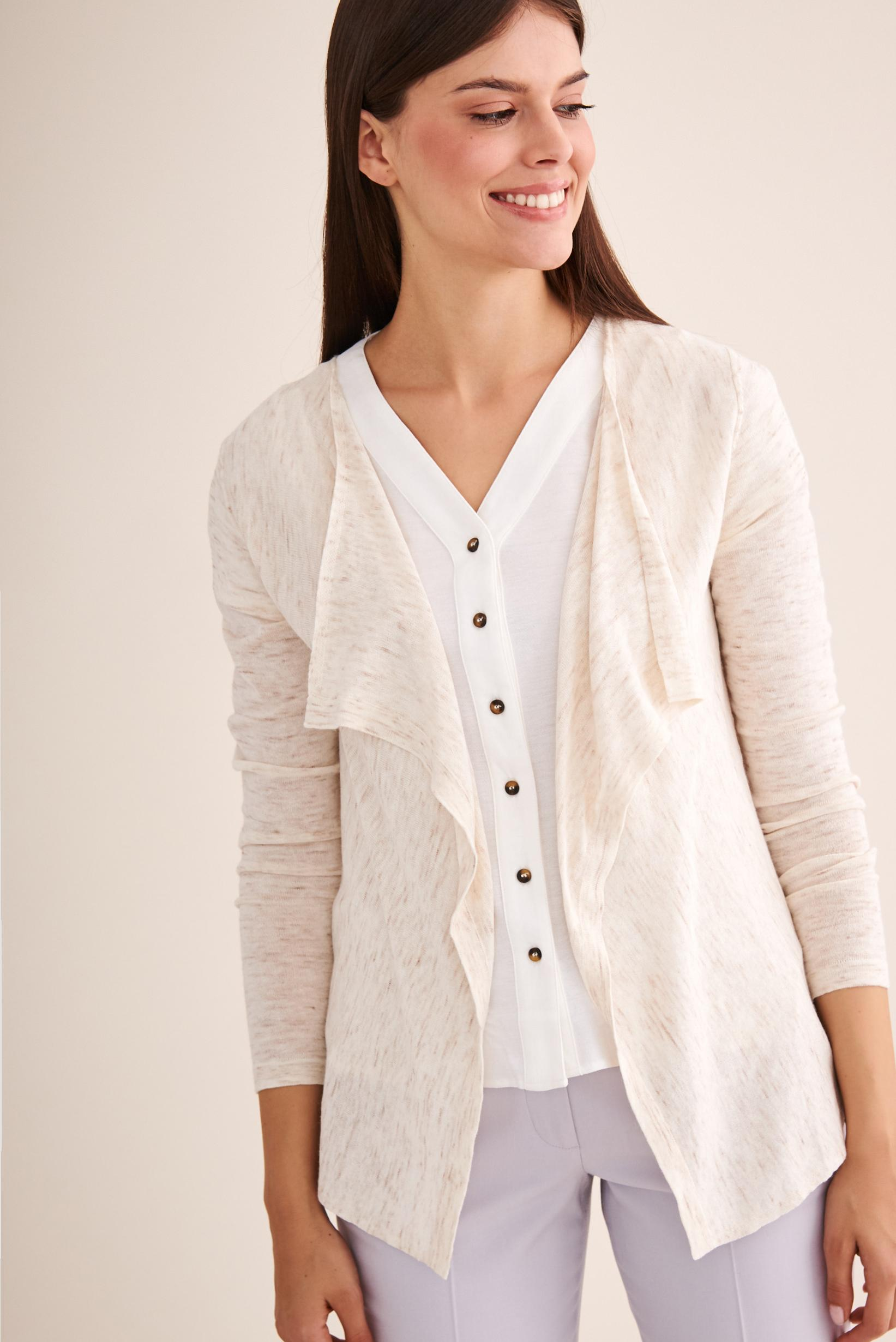 DELICATE CARDIGAN WITHOUT BUTTONS SETI