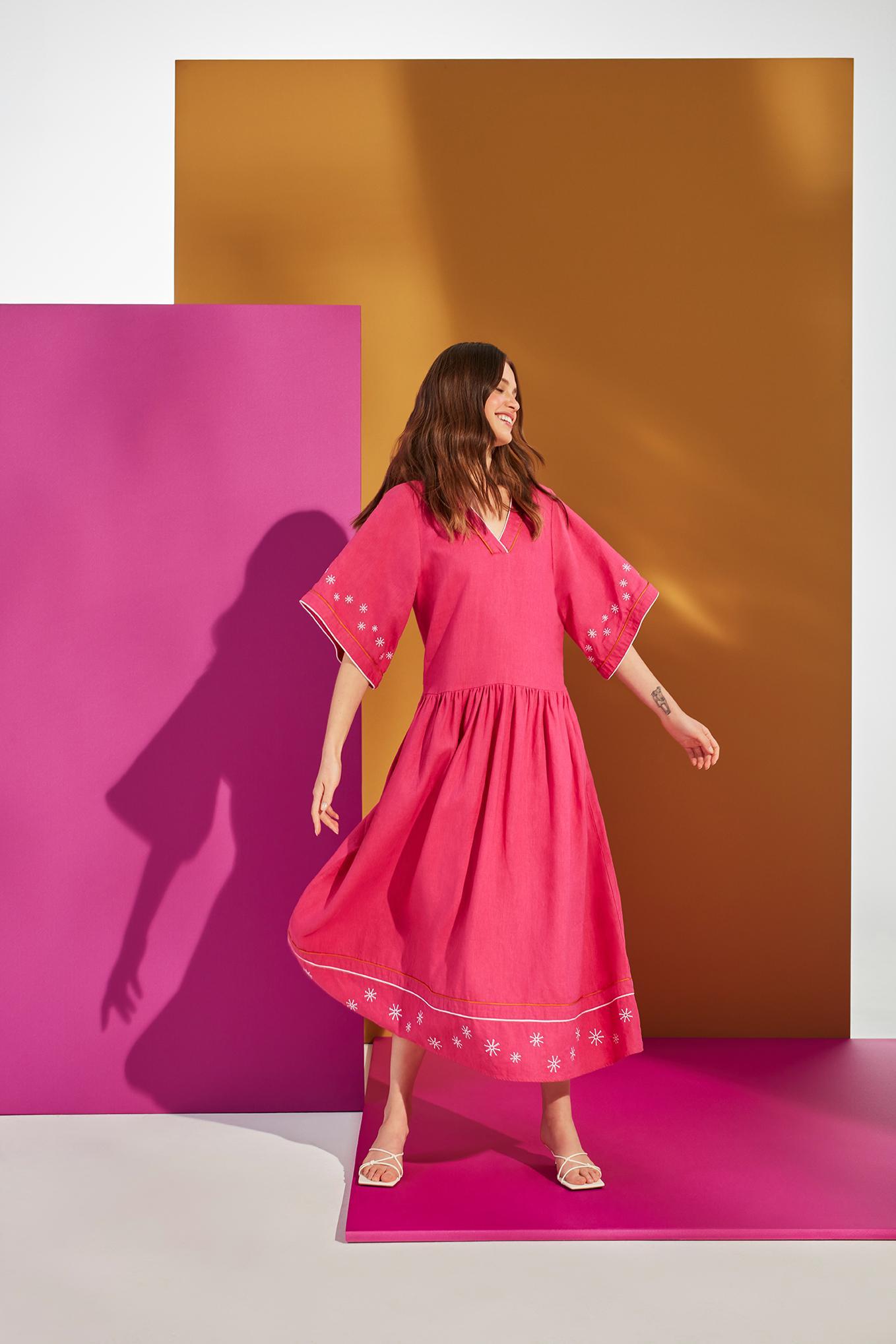NEOFOLK: LINEN DRESS TEKLA