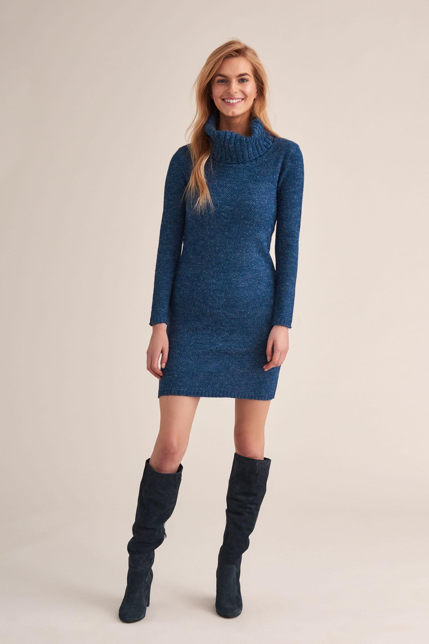 TURTLE NECK KNITTED DRESS ZANI 1