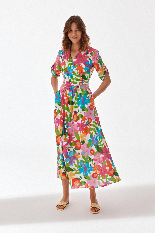 MAXI FLORAL DRESS KONTRIKA