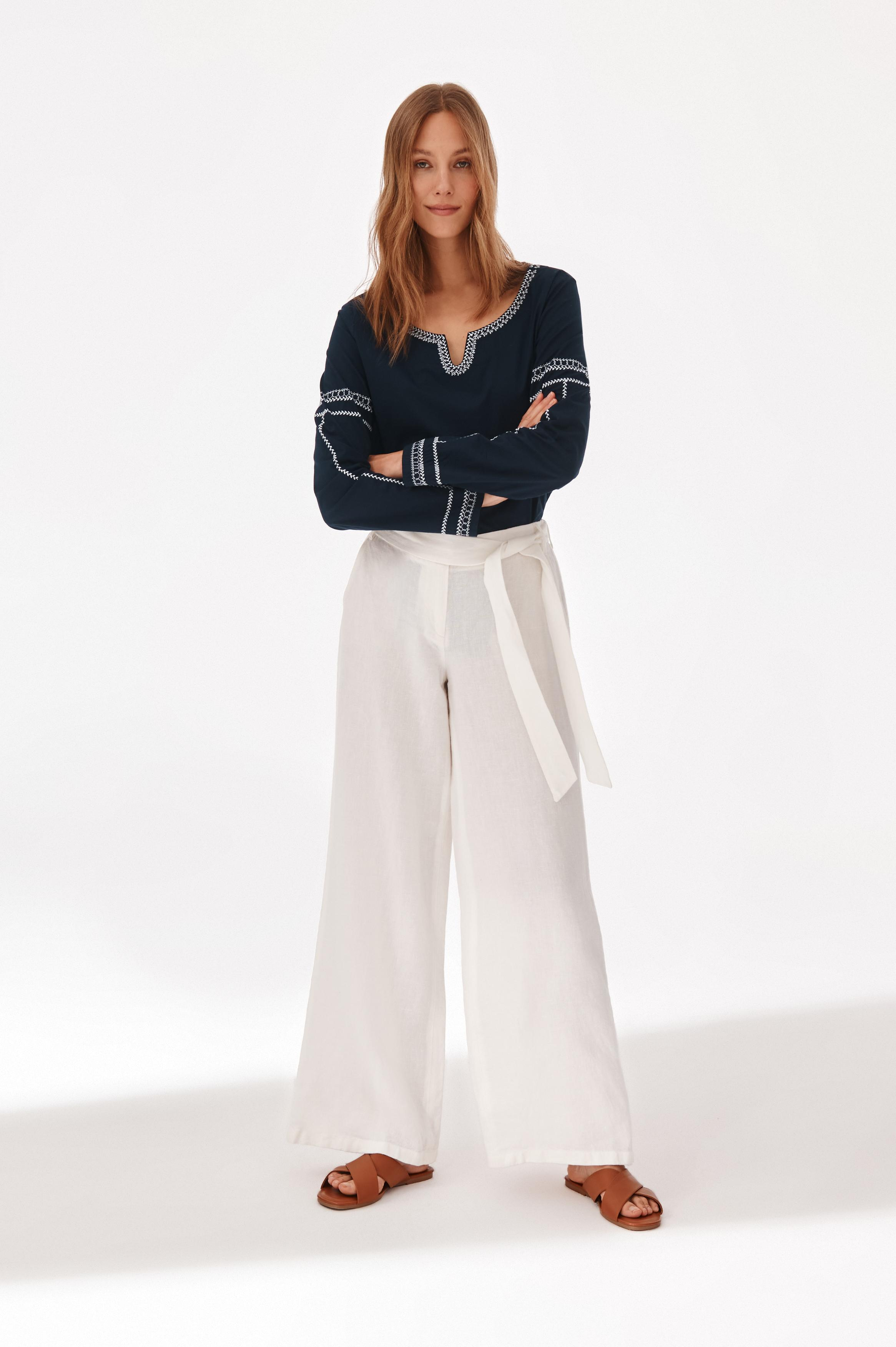 LINEN LADIES' PANTS OLENA