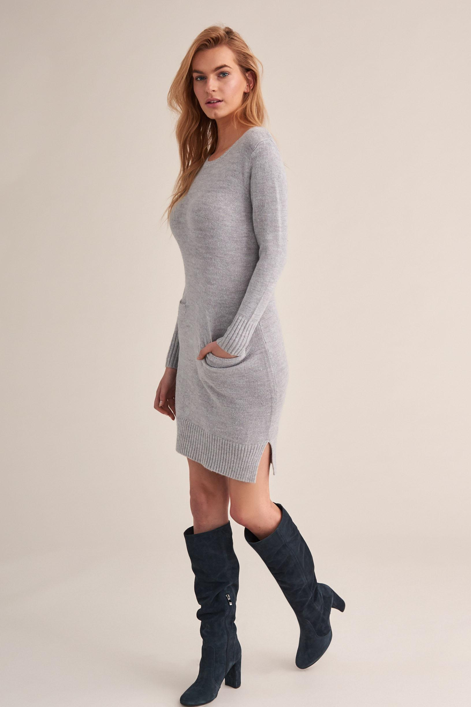 KNITTED DRESS WITH POCKETS ANITA 1