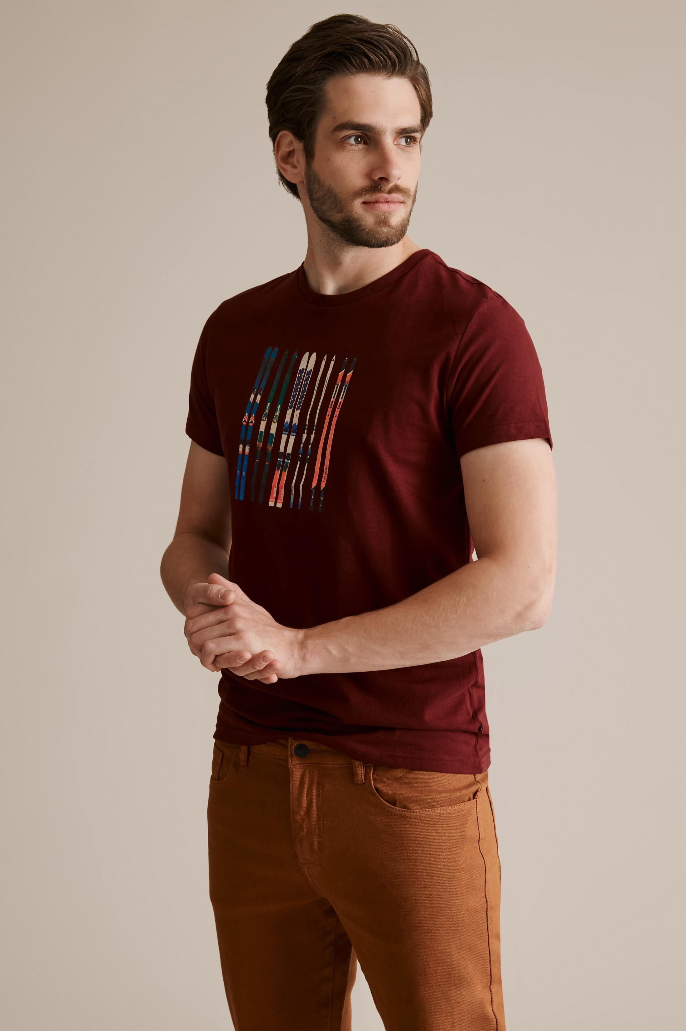 MEN'S T-SHIRT WITH A PRINT MIKIN 25