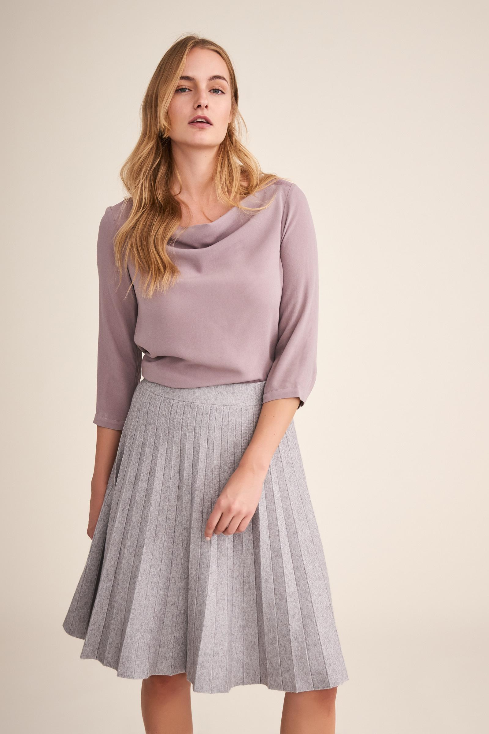 KNITTED PLEATED SKIRT WOTO