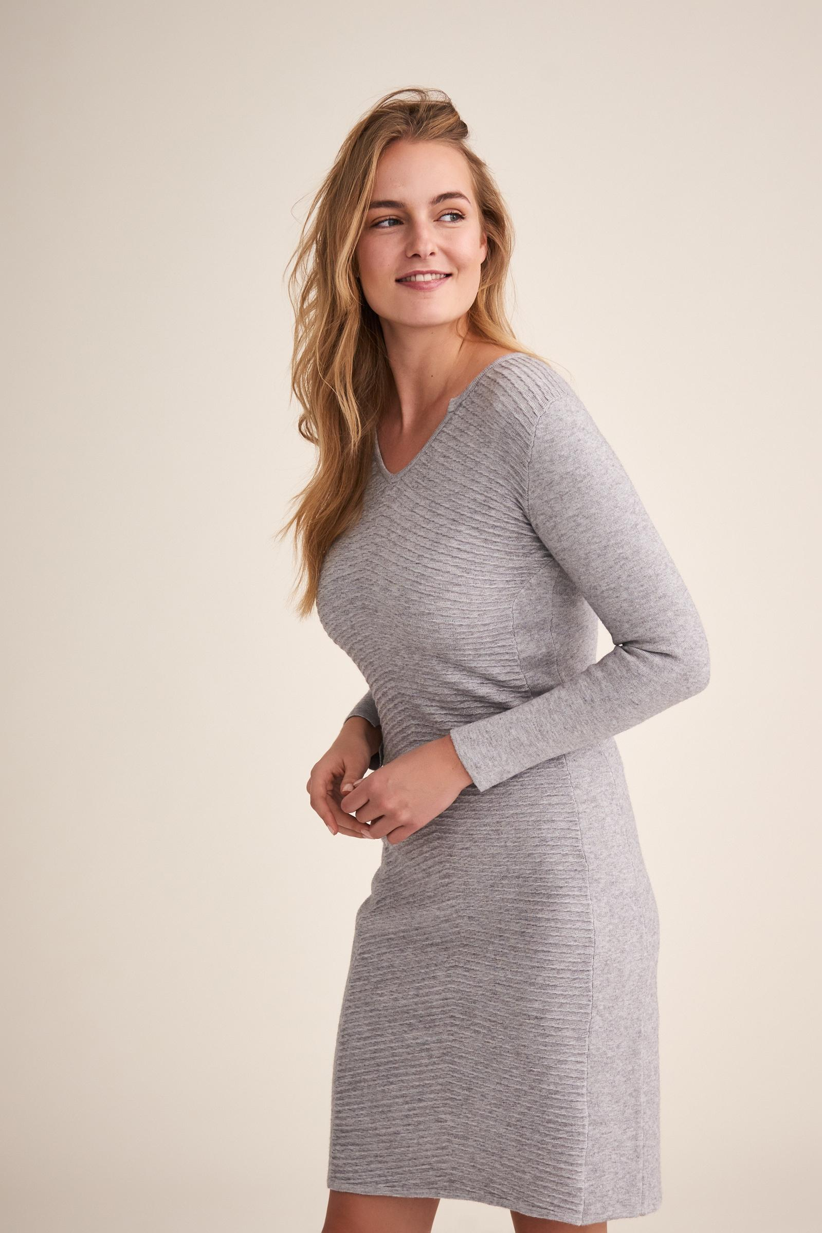 GRAY KNITTED DRESS LAWIA