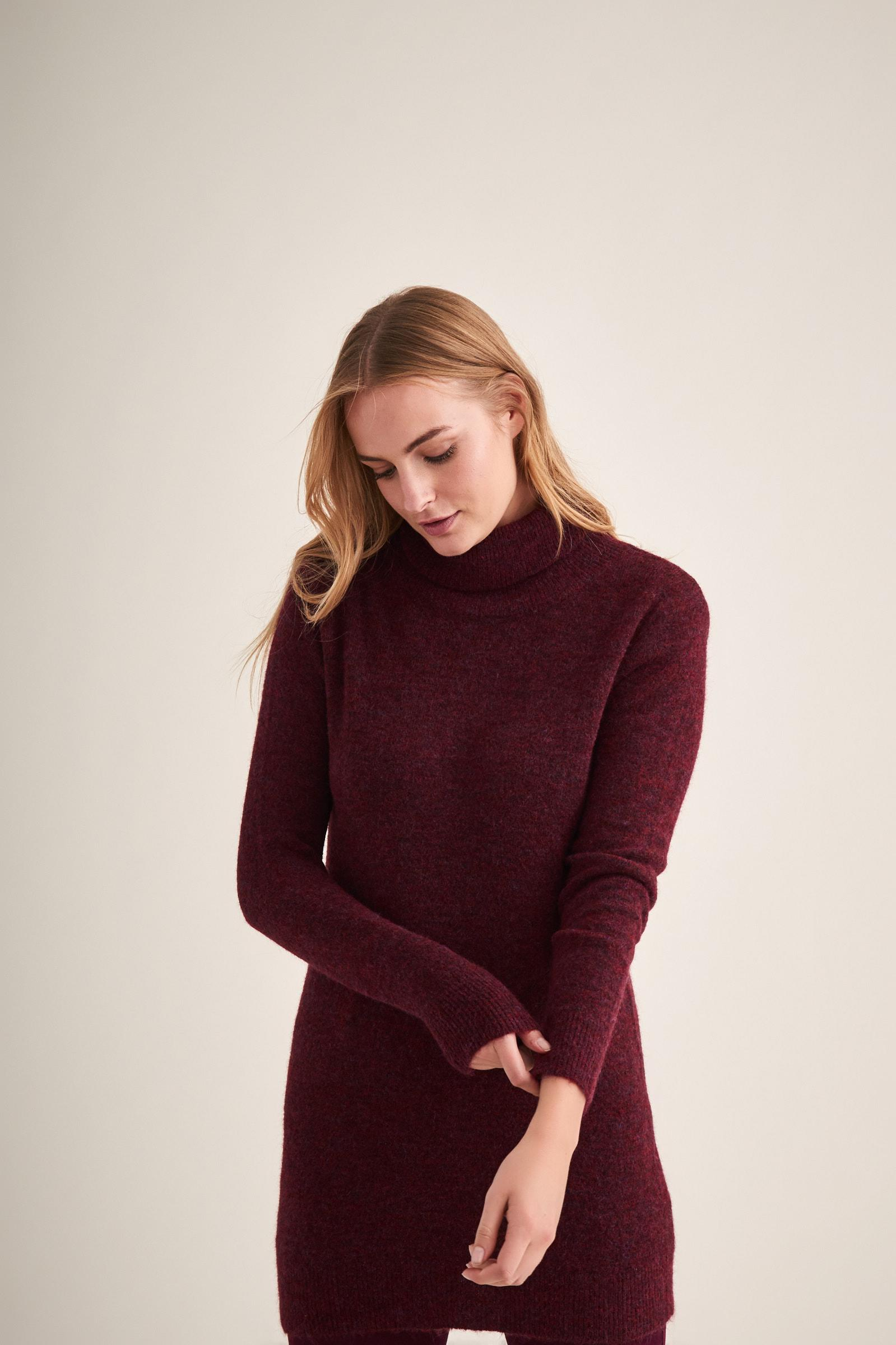 TURTLE NECK SWEATER TUNIC KORTAZA